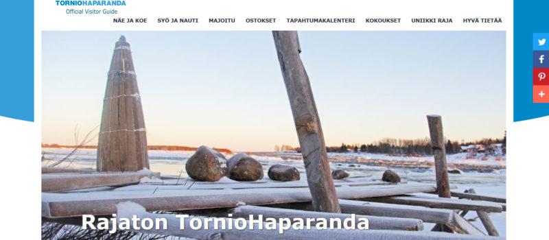TornioHaparanda-matkailutoimiston uudet nettisivut palvelevat käyttäjää sujuvasti kaikilla päätteillä