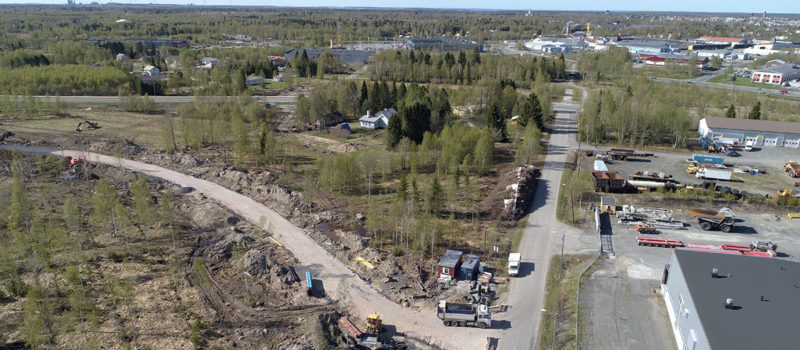 Färinmäen alueella aloitetaan kunnallistekniikan ja katualueen rakentaminen