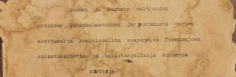 Tornionjoen kalastuspaikkakarttakirja verkossa - En gammal kartbok om Torneälvens fiskeplatser på nätet