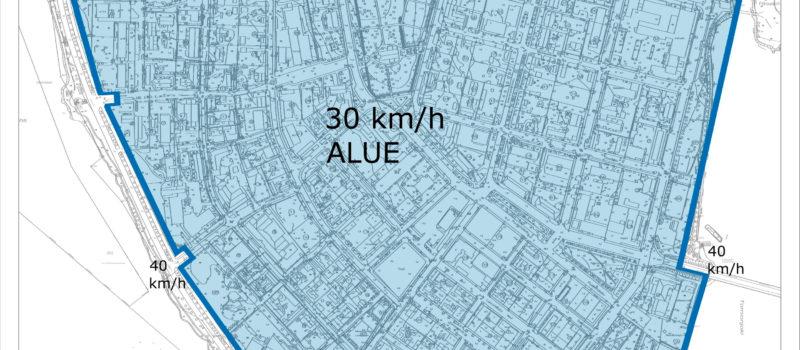 Suensaaren eteläosassa on otettu käyttöön uusi 30 km/h nopeusrajoitus