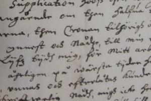 Osa Johannes Tornaeuksen kirjeestä Tornioon