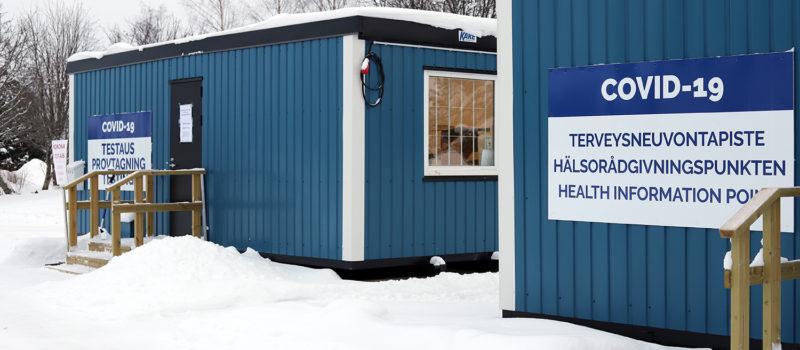 Massatestauspiste Torniossa ei ole tarkoitettu Ruotsin-kävijöiden testaamiseen