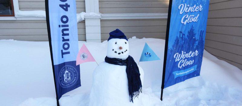 Talvihehku tuo lumiukot TornioHaaparantaan